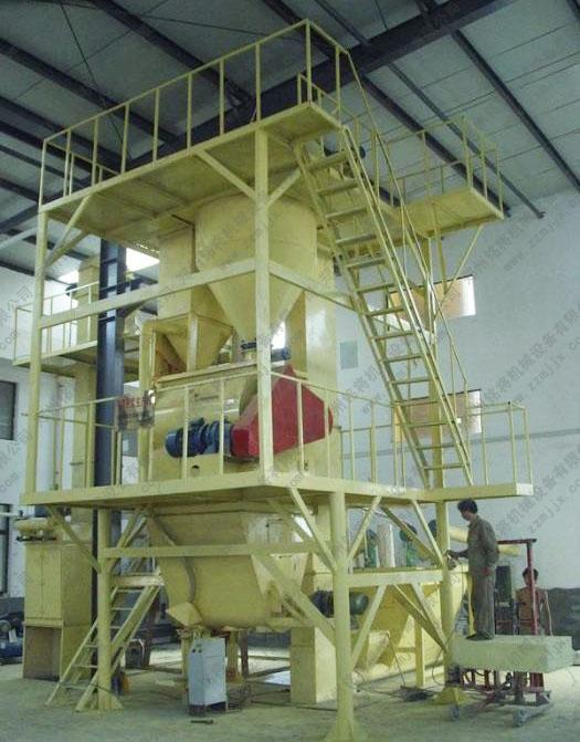 保温砂浆生产线的设备配置与工艺布置